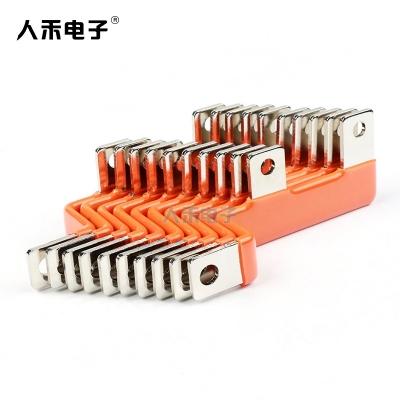 紫铜母线排硬连接 浸塑绝缘配件折弯铜排