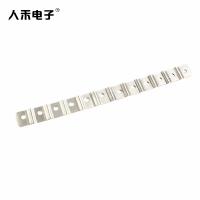 定制T2紫铜镀锡铜箔软连接 多孔导电铜排连接