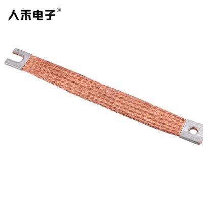 定制镀锡编织铜排,编织导电排,软铜排连接