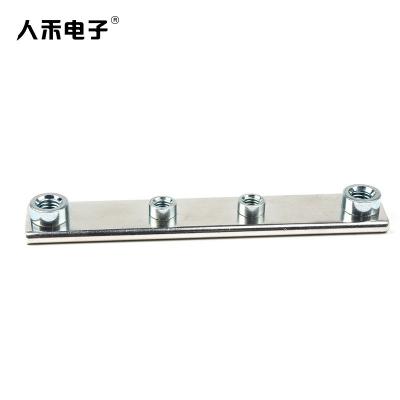 RHI 配电设备电流导电定制打孔接地铜排 压铆铜排
