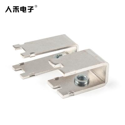RHI定制国标T2紫铜连接片 折弯压铆排 导电连接件 铜母件