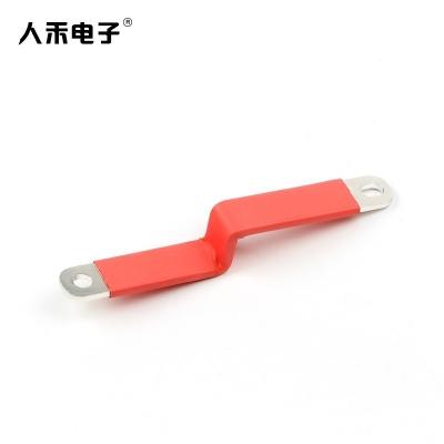 定制硬铜排连接 导电铜排折弯硬连接  绝缘镀锡