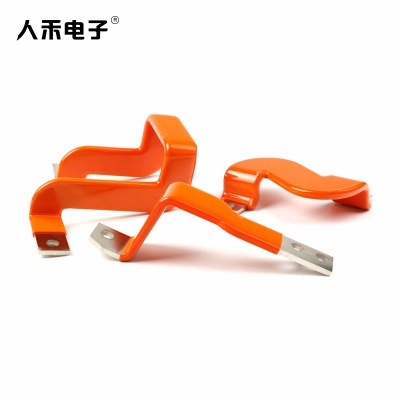 定制 铜排软连接 浸塑折弯铜排