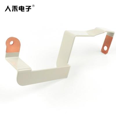 定制铜排硬连接 喷塑硬铜排电池连接件 折弯T2紫铜连接排