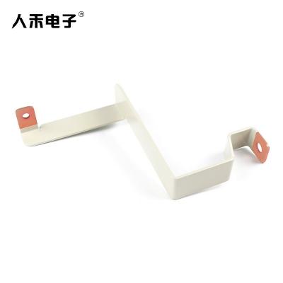 定制新能源铜排硬连接 折弯 喷塑 紫铜连接排电池连接件